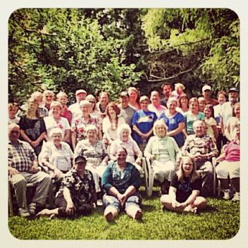 Four generations of Resch kids at the family reunion