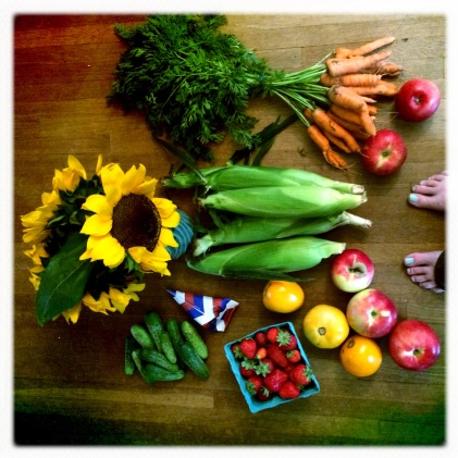 Autumn haul from the Mineapolis Farmer's Market