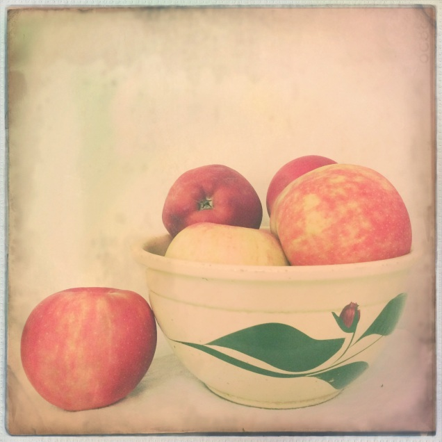 Apples in mom's old Shafer Mill bowl